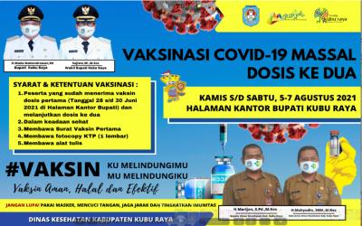 Pengumuman Pelayanan Vaksinasi Covid-19 Dosis 2 Massal