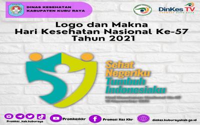Logo dan Makna Hari Kesehatan Nasional (HKN) Ke-57 Tahun 2021