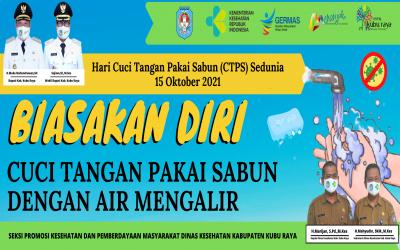 Semarakkan Hari Cuci Tangan Pakai Sabun Sedunia (HCTPSS) 2021